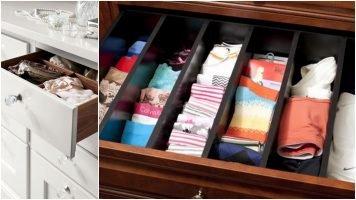 Aprenda a organizar gavetas simples